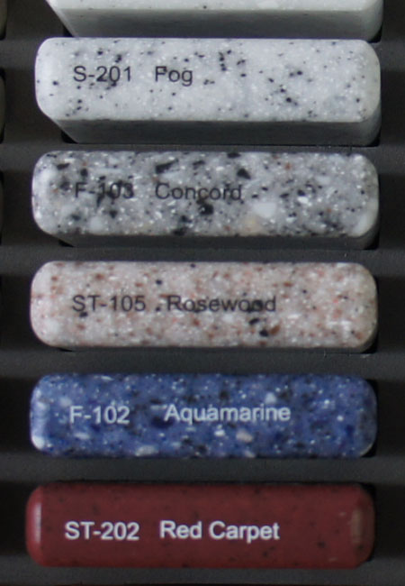 Цветовая гамма акриловый камень TRISTONE